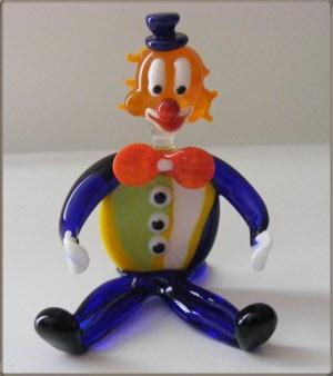 clown murano maître verrier